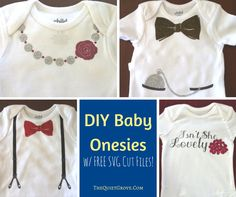 Come check out these cute baby onesies made with Iron-on transfer and my Cricut Explore Air! Enjoy the Free SVG Cut files to make them too!