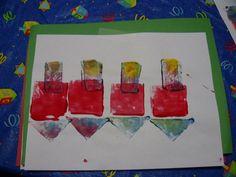 great for preschool, shapes & colors! Hanukkah Crafts, Hannukah, Jewish Crafts, Christmas Hanukkah, Preschool Christmas, Happy Hanukkah, Holiday Crafts, Preschool Winter, Preschool Arts And Crafts