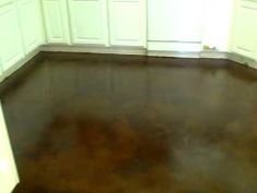 Acid Stained Concrete floor Installation with overlay and Kemiko Stain: Video 6 Acid Stained Concrete Floors, Painted Concrete Floors, Concrete Finishes, Painting Concrete, Hardwood Floors, Flooring, Video 6, Backyard, Patio