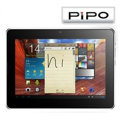 Pipo U1 Android 4.1 7 Zoll Dual Core IPS LCD 1280x800 Pixel Tablet PC - Silber