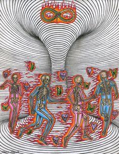Hippie Art, Dope Art, Visionary Art, Retro Futurism, Psychedelic Art, Aesthetic Art, Collage Art, Art Inspo, Art Drawings