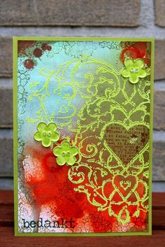 I need to try colored embossing.