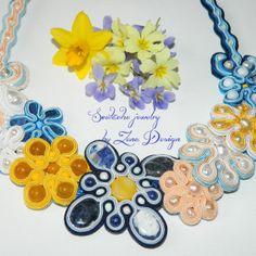 soutache necklace Spring flowers (1 a)