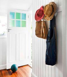 rural Queensland family home -original back door reused in the extension!