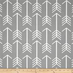 Premier Prints Arrow Twill Storm from @fabricdotcom  Screen printed on cotton duck, this versatile medium-weight fabric is perfect for window accents (draperies, valances, curtains, and swags), accent pillows, duvet covers, and upholstery projects. Colors include grey and white.
