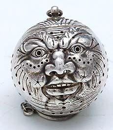 Gorham man in the moon tea ball