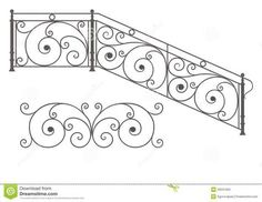 Vector Wrought Iron Modular Railings And Fences Stock Photo ...