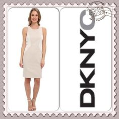 "✨DKNYC CROSSBACK SHIFT ~ NWT PRETTY & CLASSY DKNYC Pumice Colorblock Crossback Sheath ~ Any Season ~ Work to Weekend in this adorable dress ~ Knee Length (36"") ~ Cotton/Nylon/Elastane/Polyester ~ #2354 Trades or Holds ✅ Use offer option ❤️ Bundles DKNY Dresses"