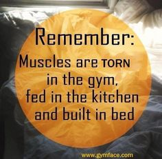 Exercise, eat to build, and get proper rest.  No substitutions!