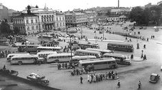 Tampere 1950-luvun puolivälissä Helsinki, Old Photos, Paris Skyline, Street View, Travel, History, Finland, Antique Photos, Old Photographs