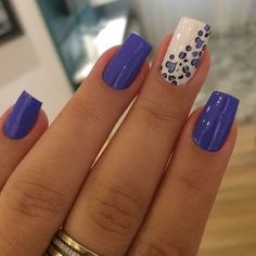 Trendy Nail Art, Stylish Nails, Funky Nails, Blue Nails, Gorgeous Nails, Fabulous Nails, Valentine Nail Art, Creative Nails, Manicure And Pedicure