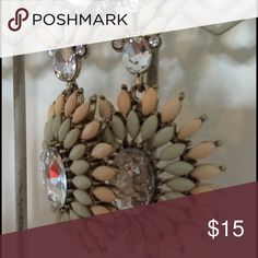 Starburst Drop Earrings These Beautiful Peach, Mint and Clear colored light weight drop earrings just make you smile!  And so will those who glance upon your earlobes! Jewelry Earrings