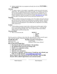 Classroom Management Plan for High School Math--I'd change it to work with social studies