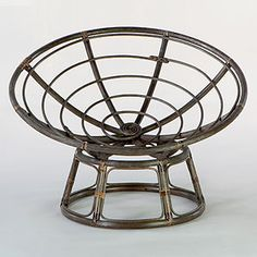 #WorldMarket -- I need this super comfortable chair for additional seating in my living room. -- Espresso Papasan Chair Frame |