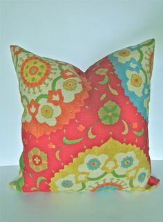PILLOW COVER 18x18 Decorative Throw Pillows Red 18 x 18 Throw Pillow Covers