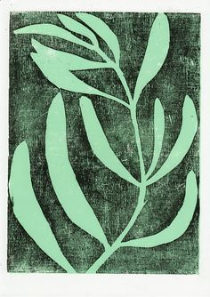 Holzschnitt Poster Pflanze A4 handgedruckt limitierte Auflage | Etsy Linocut Prints, Poster Prints, Art Prints, Block Prints, Riso Print, Botanical Illustration, Illustration Art, Stencil, Print Artist