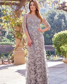 24 Stylish Mother Of The Bride Dresses ❤ mother of the bride dresses sheath with illusion long sleeves lace jasminebridal #weddingforward #wedding #bride