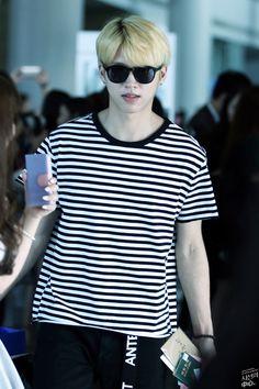 INFINITE   Nam Woo Hyun (woohyun)   150822   Incheon Airport   tumblr