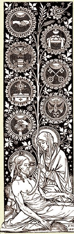 Magnificent representation of the entire Catholic faith! Catholic Prayers, Catholic Art, Catholic Saints, Roman Catholic, Religious Art, Christian Symbols, Christian Art, Catholic Missal, Faith Of Our Fathers