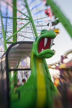 Very fun Lens Baby picture of the dragon swing at Santa Monica Pier.