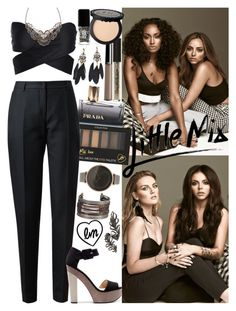 """""""Photoshoot with Little Mix"""" by valeria-angel ❤ liked on Polyvore featuring Miss Selfridge, Giorgio Armani, Prada, Akris, Zara, Skagen, JINsoon and Elise Dray"""