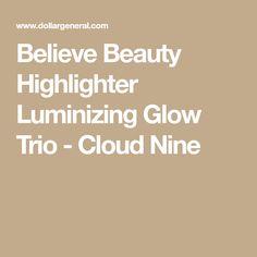 Believe Beauty Highlighter Luminizing Glow Trio - Cloud Nine