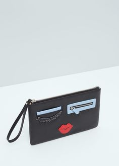 Embroidered details envelope -  Woman | MANGO United Kingdom