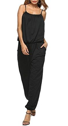 ouxiuli Womens Bell Bottom Pants Overalls High Waist Strap Trousers Jumpsuit