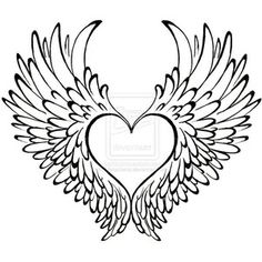 Heart with Wings Tattoo by Metacharis