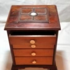 Load image into Gallery viewer, Pair of Miniature Mahogany Chest of Drawers Wood Drawers, Chest Of Drawers, Drawer Dividers, Miniatures, Antiques, Crafts, Gallery, Home Decor, Image