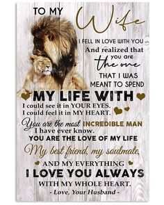 Great Gifts For Wife, Love Gifts, Gsm Paper, Some Words, Family Gifts, Poster Wall, Love Of My Life, I Am Awesome, Feelings