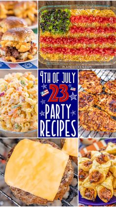 of July Party Recipes of July Party Recipes – 23 easy and delicious recipes to celebrate America's Independence! Summer Recipes, Holiday Recipes, Party Recipes, Appetizer Recipes, Appetizers, Fourth Of July Food, July 4th, Tapas, Recipe For 4