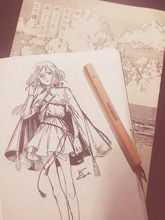Manga Art, Manga Anime, Art Sketches, Art Drawings, Arte Sketchbook, Character Design Inspiration, Ink Art, Drawing Reference, Art Tutorials