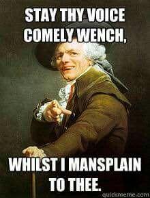 Mansplainers Mansplaining