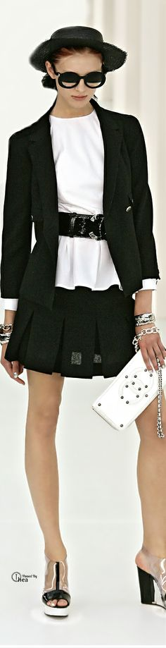 Chanel (Classic version of quirky as only Chanel - or Karl Lagerfeld - can do. Adorable. And, again, the hat!)