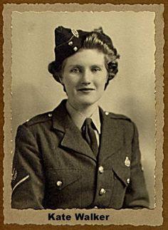 Kate Walker in ATS uniform