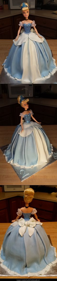 Cinderella Doll Cake (Multiple Angles) http://laceyjakescakes.blogspot.com/p/cakes-ive-made.html