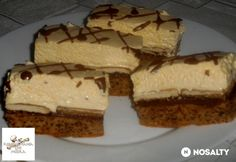 Violetta szelet Hungarian Recipes, My Recipes, Nutella, Cheesecake, Cookies, Dios, France, Sheet Cakes, Crack Crackers