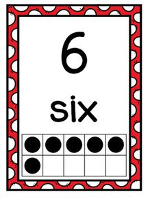 Number Posters with Ten Frames and Flash Cards---Bright Red Polka Dots 1st Grade Math, Kindergarten Math, Grade 1, Math For Kids, Fun Math, Therapy Worksheets, Classroom Organization, Classroom Decor, English Activities
