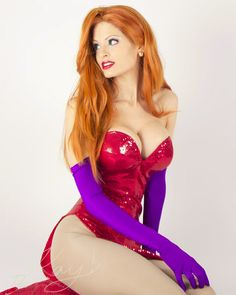 Jessica Rabbit?  Or replace the dress with (large) clamshells and add a tail and you've got a real-life Ariel