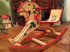 Купить Лошадка качалка деревянная - лошадка качалка, лошадка-качалка, Городецкая роспись, лошадка деревянная