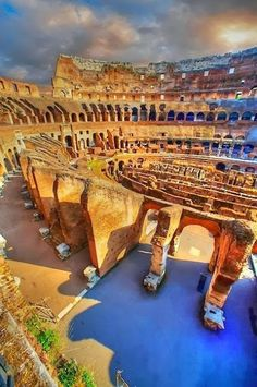 The Colosseum, Rome, Italy----- I like this picture. It is different from the ones you usually see of the Colosseum.