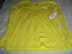 Fila Sport Performance Yoga top size XL Bright Yellow http://r.ebay.com/C7FyHe