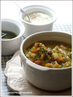 La soupe au pistou aux légumes de Nice, délice et convivialité des soirs d'été ...