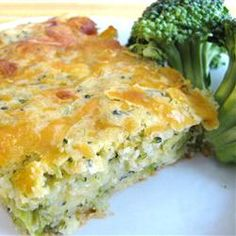 """Broccoli Cornbread with Cheese 