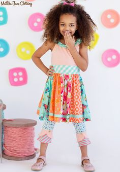 Happy and Free, Spring 2016: Trifle Pudding Dress and Patisserie Scrappy Leggings