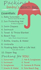 Tips for taking the baby to the beach! This is your perfect beach bag checklist. Just in time for summer!