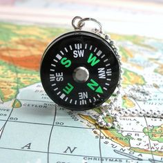 Working Compass Necklace for the Adventurer by DLK Designs