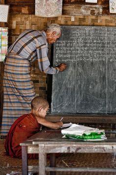 """""""Profesor y estudiante"""" – Abril Badilles - Bagan, Myanmar."""