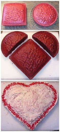 DIY: Heart Shaped Cake!